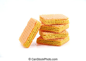 wafer on white background