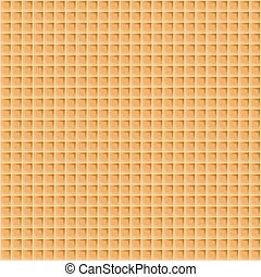 Wafer seamless background. Vector illustration. Waffle...