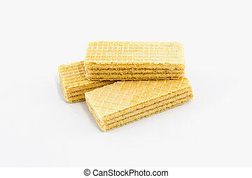 Wafers. - Close up wafers isolated on a white background.