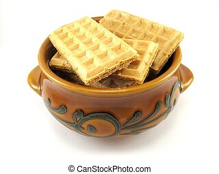wafers in a bowl
