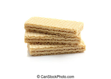 wafers isolated in white background