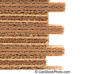 Wafers isolated on white background