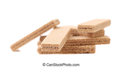 Wafers with chocolate.