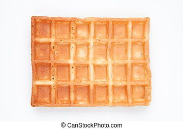 Waffle against a white background