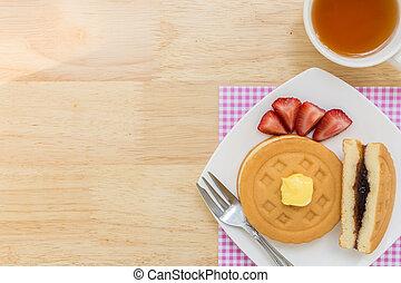 Waffle Background / Dessert Background