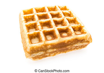 Waffle bakery for breakfast isolated on white background