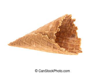 waffle cone isolated on white background
