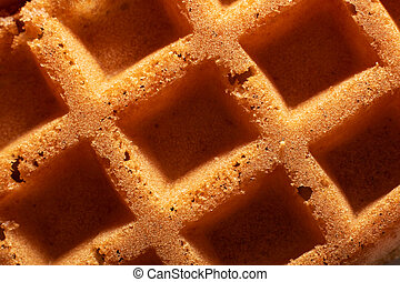 Waffle cookies close up, background or texture