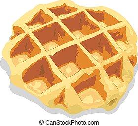 waffle - a waffle.