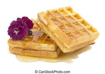 waffle, honey, violet