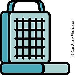 Waffle-iron maker icon, outline style - Waffle-iron maker ...