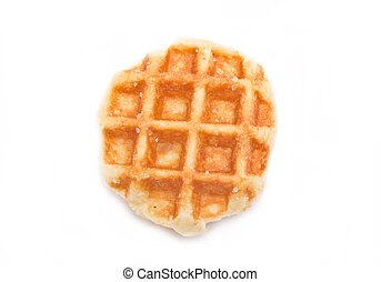 Waffle isolated on white background.