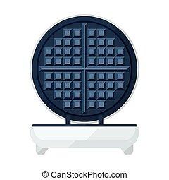 Waffle maker flat icon - Waffle maker of waffle iron flat ...