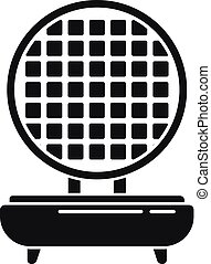 Waffle maker icon, simple style - Waffle maker icon. Simple ...