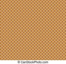 Waffle pattern. Chocolate wafer confectionery texture. Vector illustration for your design.