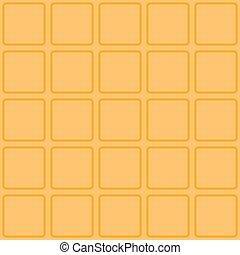 Waffle seamless vector texture.