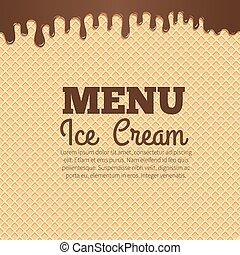 Waffle texture background for cafe menu design