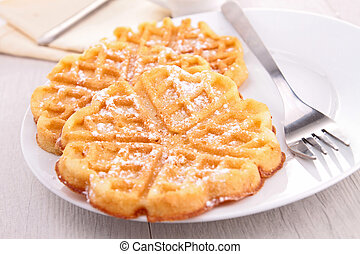 waffle with berries
