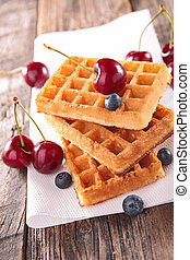waffles and cherry
