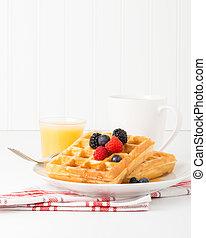 Waffles and Fruit Portrait