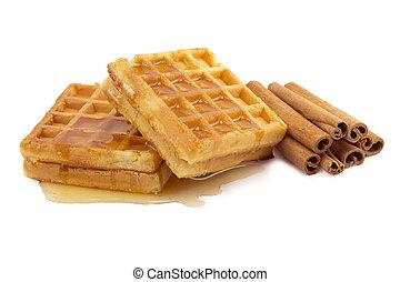 waffles, cinnamon