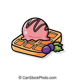 Waffles doodle