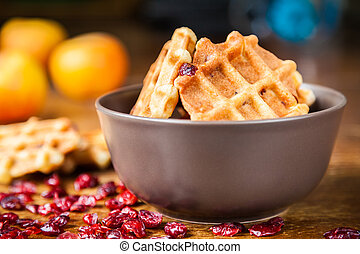 Waffles In A Bowl
