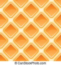 Waffles pattern seamless texture, quality orange background