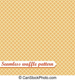 Waffles seamless vector pattern. Sweet and delicious food