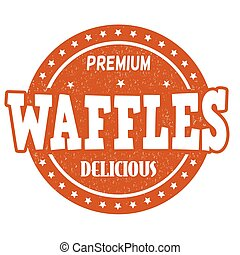 Waffles stamp - Waffles grunge rubber stamp on white ...