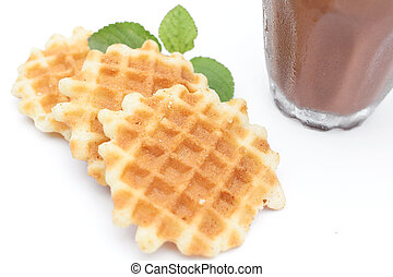 waffles with hot chocolate