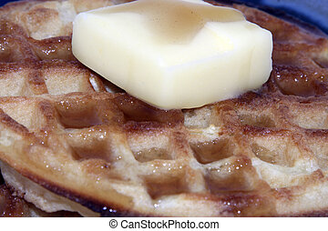Waffles with Syrup Butter