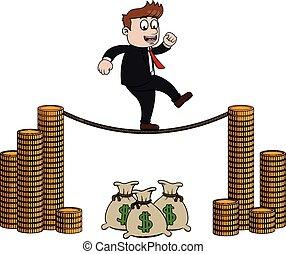 waga, finansowy, handlowiec