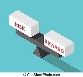 waga, isometric, nagroda, ryzyko