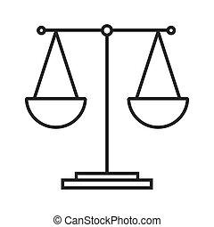 waga, równość, tabela, ikona