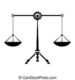 waga, sprawiedliwość, symbol, skalpy, waga, znaki, zodiak, prawo