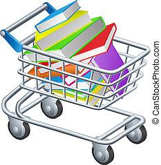 wagentje, boekjes , shoppen