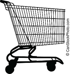 wagon for shopping - vector - illustration of wagon for...