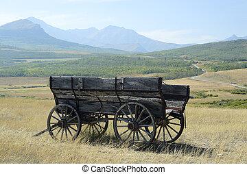 Wagon. - Old wagon on the Alberta prairies.