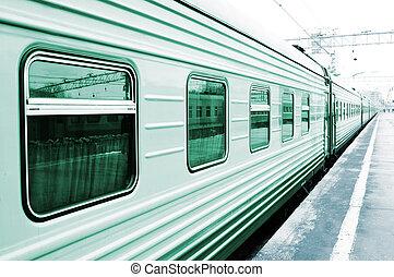 Wagon on the platform