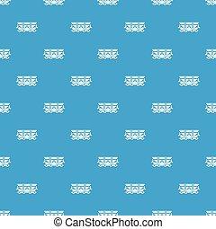 Wagon pattern vector seamless blue