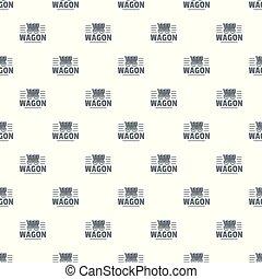 Wagon pattern vector seamless