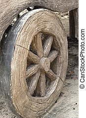 wagon tol, öreg, -, western, style.