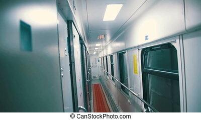 Wagon Train Compartment - Wagon train compartment. Sleeping...