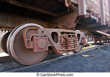 wagon train is on rails