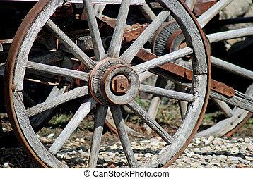 Wagon wheel - Old rustic wagon wheel