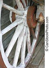 Wagon Wheel - old wooden wagon wheel