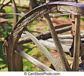 Wagon Wheel Portion - Portion of old rusted wheathered metal...