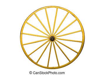 wagon wiel, met, tikje