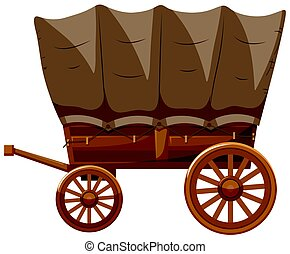 Wagon with wooden wheels